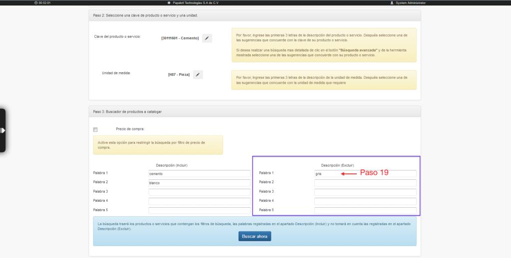 filtros Excluir en herramienta de clasificación masiva de claves de productos y servicios SAT
