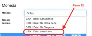 Koatl Facturas Selecciona la Moneda