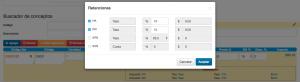Koatl Facturas Modifica los porcentajes de las retenciones