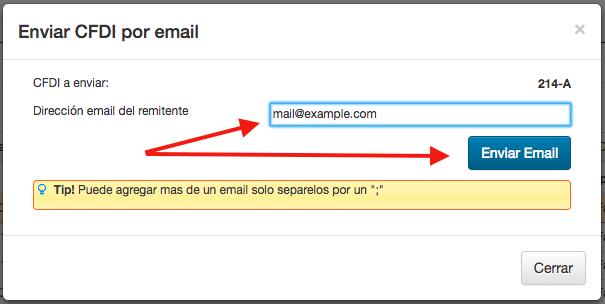 Envio de CFDI 3.3 por Email