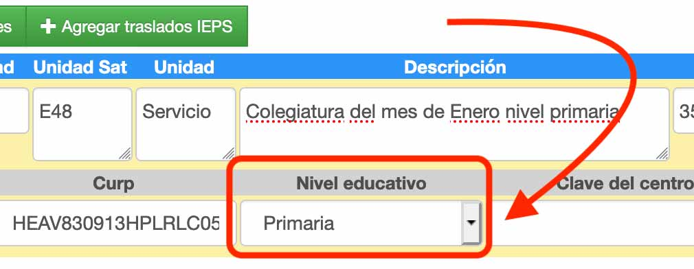 nivel educativo complemento iedu