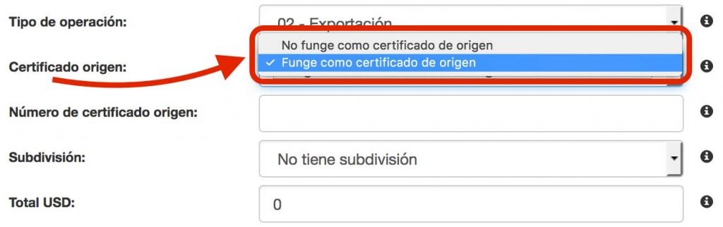 funge como certificado origen