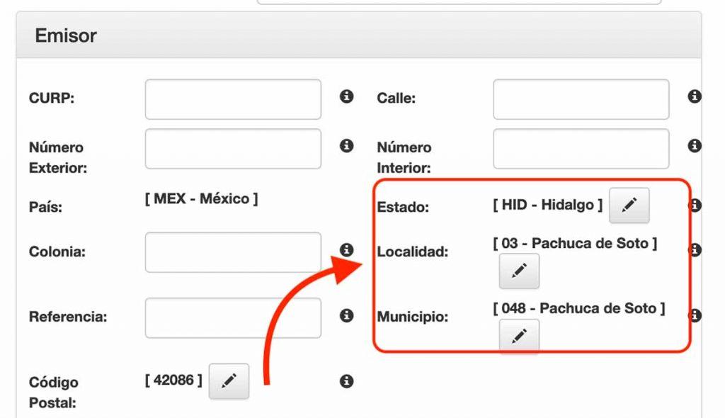 llenado automatico de datos emisor comercio exterior
