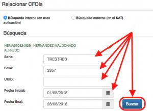 Buscador de CFDIs