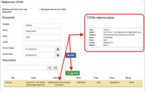 Relacionar CFDIs complemento de pago SAT